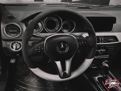 Mercedes-Benz C-класс. Реставрация кожи_6