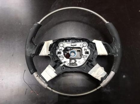 Merсedes ML.  Изменение анатомии руля, ремонт деревянной отделки салона _2