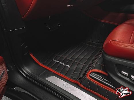 Porsche Cayenne S . Пошив 3D ковриков_2