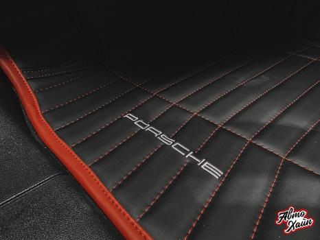 Porsche Cayenne S . Пошив 3D ковриков_3