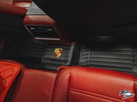 Porsche Cayenne S . Пошив 3D ковриков_6