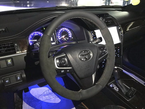 Toyota Camry. перетяжка руля_4