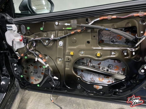Toyota Camry. Шумоизоляция дверей_3