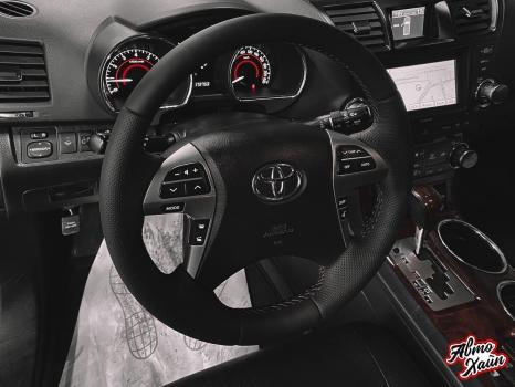 Toyota Highlander.  Установка обогрева и перетяжка руля_2