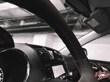 Toyota Highlander.  Установка обогрева и перетяжка руля_3