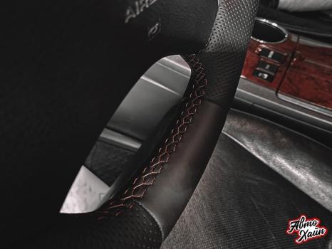 Toyota Highlander.  Установка обогрева и перетяжка руля_4