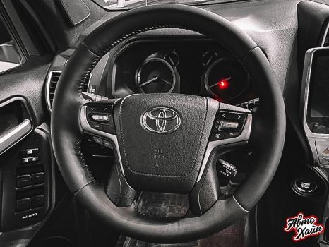 Toyota Land Cruiser Prado 150. Перетяжка заднего дивана_2