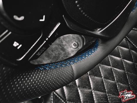 Toyota RAV4 . Установка обогрева и перетяжка руля_5