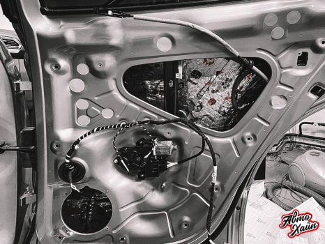 Volkswagen Tiguan. Шумоизоляция дверей _1