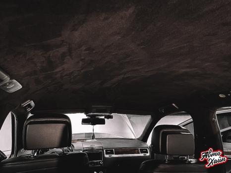 Volkswagen Touareg. Перетяжка потолка _4