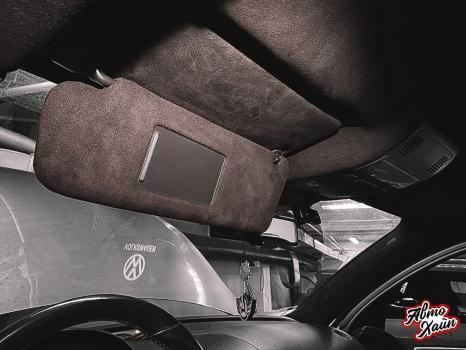 Volkswagen Touareg. Перетяжка потолка _6